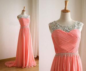 chiffon, fashion, and gown image