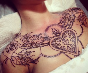 beads, Tattoos, and heart image