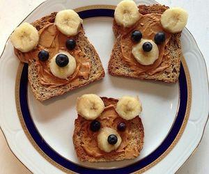 food, bear, and banana image