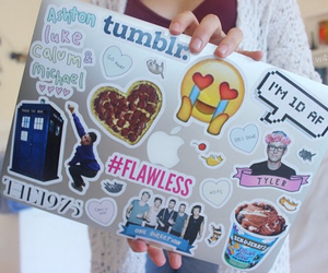 tumblr, apple, and laptop image