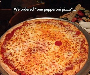 funny, pizza, and pepperoni image