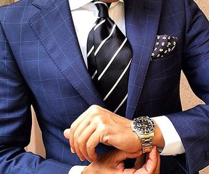 blue, check, and suit image