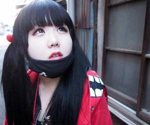 girl, kawaii, and mask image