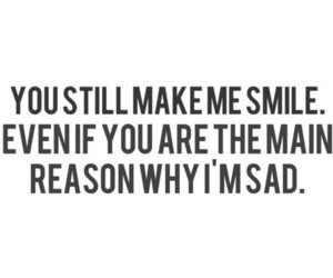 sad, quote, and smile image