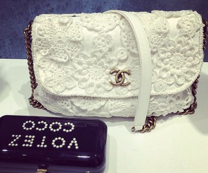 chanel, white, and bag image