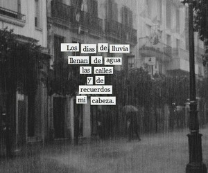 frases, lluvia, and memories image