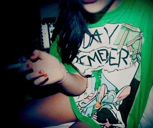 a day to remember, girl, and cigarette image