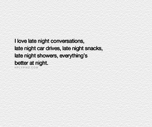 conversations, night, and showers image
