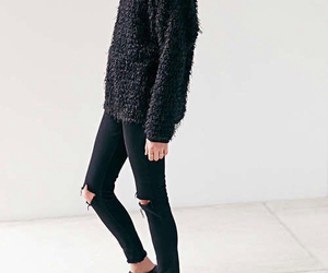 black, black pants, and clothes image