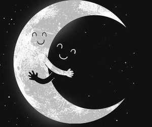 moon, black, and white image