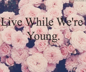 flowers, one direction, and young image