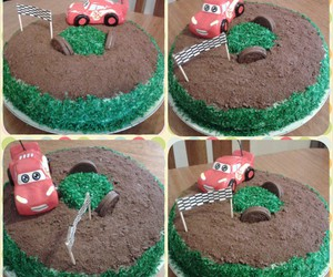 cake, cars, and candy image
