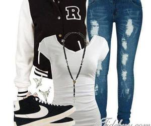 clothing, nike, and outfit image