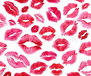 kiss, red, and wallpaper image