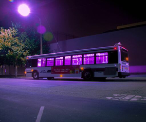 purple, bus, and grunge image