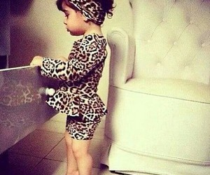 leopard baby girl cute image