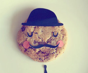 cookie, mustache, and food image