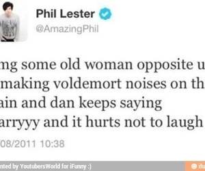 dan, harry potter, and twitter image
