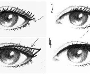 eyes, eyeliner, and makeup image
