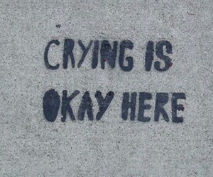 quote, crying, and graffiti image