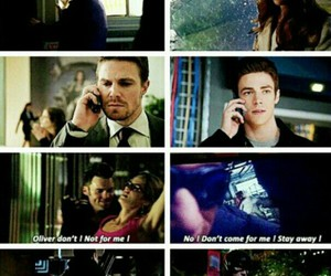the flash, olicity, and snowbarry image