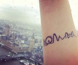 tattoo, london, and city image