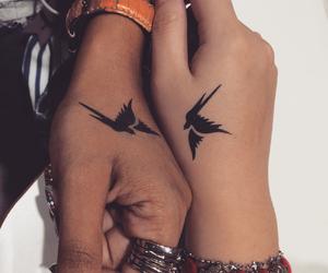 birds, friendship, and tattoo image