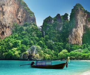 amazing, boat, and paradise image