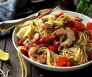 lemon, shrimp, and pasta image