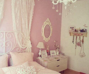 girly, white, and pink image