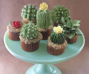 cacti, cupcakes, and dessert image