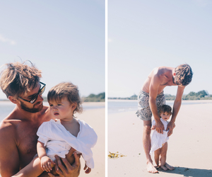 love, baby, and beach image