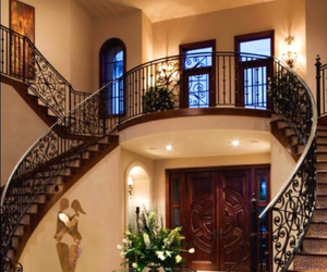 dream home, mansion, and staircase image