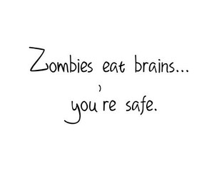 zombies, brain, and funny image