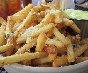 fries, food, and yum image