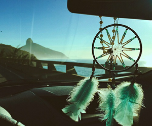 car and dream catcher image