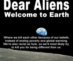 earth, aliens, and belief image