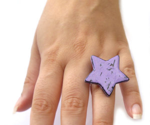 jewelry, star ring, and polymer clay image
