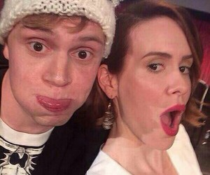 evan peters, sarah paulson, and american horror story image