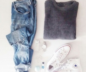 converse, cool, and sweater image