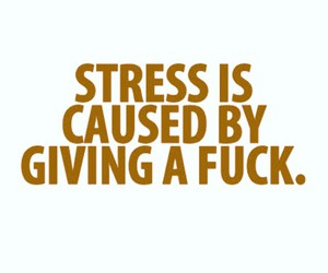 quote, stress, and life image