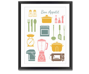 kitchen decor, kitchen art, and colorful wall art image