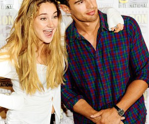theo james, Shailene Woodley, and divergent image