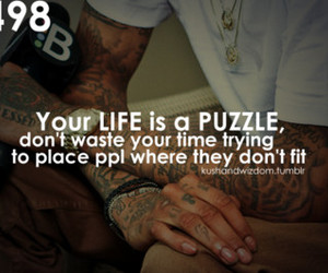 life, puzzle, and text image