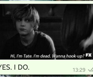 tate, violet, and fangirl image