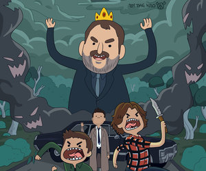 supernatural, castiel, and adventure time image