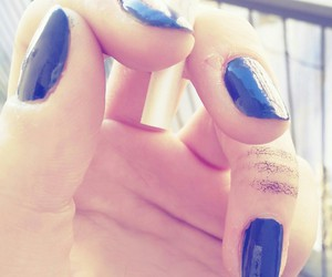 blue, cigarette, and nails image