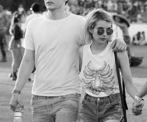 emma roberts, evan peters, and love image