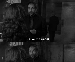 black and white, crowley, and quote image