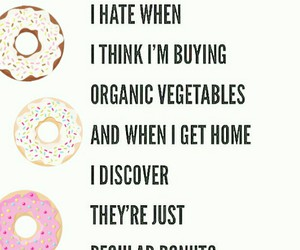 donuts, funny, and hate image